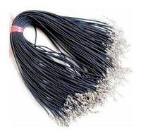 Черный воск кожа змеи ожерелье 45см 60см шнура Строка тросик Удлинитель цепи компонент ювелирных изделий омара Застежка DIY моды в массовых A0101