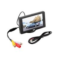 """Classic Style 4.3 """"TFT LCD Achteruitkijk Auto Monitoren voor DVD GPS Reverse Backup Camera Voertuig Rijden Accessoires Gratis verzending"""