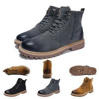 2020 Nuovo Martin Stivali da donna Scarpe in pelle di inverno Motociclo Mens Ankle Boot Cavaliere Doc Martins pelliccia Coppia Oxfords Shoes 39-44 in casa di marca
