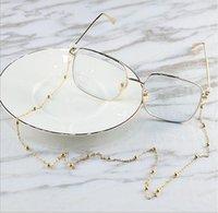 Oturum Metal Zinciri Boncuk tasarımcı güneş gözlüğü zincir readingglasses silikon jel döngü ile alaşım kaymaz halat dize boyun kablo tutucu zinciri