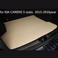 사용자 정의 미끄럼 방지 가죽 자동차 트렁크 매트 바닥 매트 KIA CARENS에 적합한 5 석 2천13~2천16년 자동차 미끄럼 방지 매트