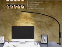 긴 팔 테이블 램프 클립 사무실 주도 데스크 램프 원격 제어 침실 Led 빛 5 레벨 BrightnessColor를 들어 램프 눈 보호