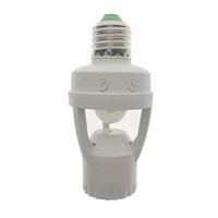 110-220 V max 60 W entrada motion sensor e27 socket 360 grados PIR inducción sensor de movimiento titular de la lámpara