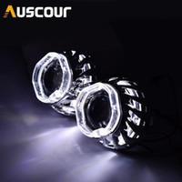 2pcs 2.5inch bixenon Projecteur lentille ange blanc blanc Yeux DRL caché en forme de ballast ampoule xénon pour phare de voiture H1 H4 H7 Modifier