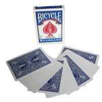 Fahrrad-Blank-Gesicht Blau / Rot Zurück Spielkarten Gaff Deck Poker Spezielle Props Close Up Zaubertricks