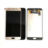 Painéis de tela de exibição LCD para Samsung Galaxy J7 J737 J7V com brilho Ajustável Peças de reposição Preto