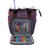 Portable Knitting Bag Wool Yarn Crochet Hooks empty Storage ...