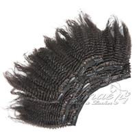 버진 레미의 vmae 클립 인간의 머리카락 확장 4A 4B 4C 킨키 스트레이트 120g 자연 색 전체 큐티클 정렬 아프리카