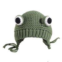 2020 bebé sombrero de invierno orejeras de lana hechos a mano de los niños de 8 meses a 3 años de edad sombreros 1 bebé de otoño e invierno los niños y niñas