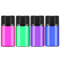 2ml colored Glass Essential Oils bottle empty sample Bottles...