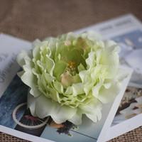 Имитировать пион цветок головы Высококлассные Искусственный цветы пиона Heads Свадебные украшения DIY принадлежности Аксессуары многоцветный Доступные EEA699
