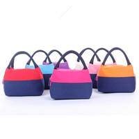 Nouveau paquet d'isolation style coréen sacs colorés barbecue sauvage thermique extérieur paquet boîte à lunch portable toile de pique-nique frais pour gros