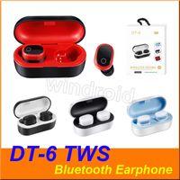 DT-6 DT6 DT6 TWS 5,0 mini Twins SANS BLUETOOTH STEREO Headset Sport Casque Écouteurs intra-auriculaires Écouteurs à oreilles avec prise de chargement Appel binaural