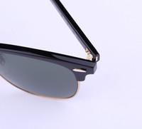 Venta al por mayor-AOOKO Venta caliente Diseñador Pop Club Moda Hombres Gafas de sol Mujeres Retro Verde G15 gris marrón Negro Lente de mercurio Nueva bisagra 49 mm 51 mm