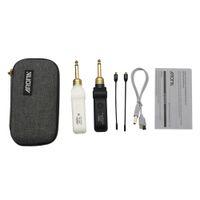 AROMA ARU-03 Système de transmission audio sans fil UHF Émetteur-récepteur Batterie intégrée avec câble pour basse de guitare électrique