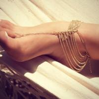 Joyas para pies Sandalias descalzas Bridemaids Joyas para bodas en la playa Anillo para los pies Tobilleras