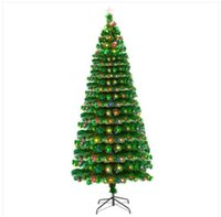 7.5FT Fiber Optic Christmas Tree with 260 LED Lamps + 260 Branches
