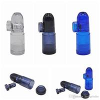 Acrilico colorato di plastica Snuff canna nasale fumo di figura della pallottola portatile bottiglia rimovibile Box Easy Clean molteplici usi DHL libera