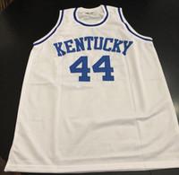 Dan Issel # 44 Kentucky Hourse Wildcats 레트로 농구 저지 망 스티치 사용자 지정 번호 이름 유니폼