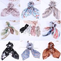 36 couleurs bow streamers bague cheveux anneau de mode ruban fille bandes de cheveux Scrimessetail cravate solide headwear accessoires de cheveux 20pcs / lot