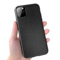 Litchi Kılıf Yumuşak TPU Kauçuk Silikon Darbeye Kapak iPhone 11 Pro Max XS XR X 8 7 6 6S Artı Samsung Galaxy S10 E S9 S8 Not 9