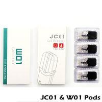 JC01 сменные картриджи Pod 4 шт. / упак. 0.7 мл 1.5 ом керамические стручки 1.8 ом W01 головки для комплекта батарей JC01 100% аутентичные