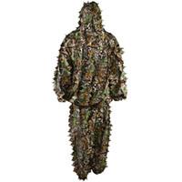Abbigliamento mimetico Completo verdeggiante Set giungla Completo 3D verdeggiante Ghillie Suit per la caccia agli uccelli