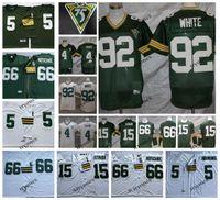 NCAA Vintage 4 Brett Favre 15 Bart Starr 66 Ray Nitschke 92 Reggie White 5 Paul Hornung Футбол Джерси Винтаж