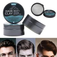 80г Клей для укладки волос Mud для мужчин сильной фиксации причесок Matte Molding Закончено Крем Продолжительный Mud Стереотип волос