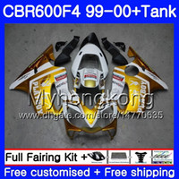 Bodys + Tank Pour HONDA CBR 600 F4 FS CBR 600F4 CBR600F4 99 00 287HM.32 Stock blanc CBR600FS CBR600 F 4 CBR600 F4 1999 2000 Kit de carénage