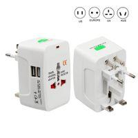 전기 플러그 전원 소켓 어댑터 국제 여행 어댑터 유니버설 여행 소켓 USB 전원 충전기 변환기 EU 영국 미국 AU