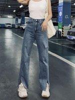 pantolonunu saç yüksek bel düz ayak kalça moda kot pantolon delik Ölçme WMYJSF