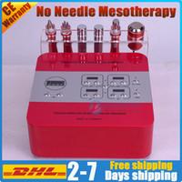 Прибор mesotherapy никак-иглы уход за кожей лица электропорация подтяжка лица безыгольный RF удаления морщинки подмолаживания кожи микротоковая RF био