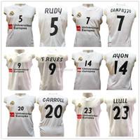 Rudy Fernandez 5 Facundo Campazzo 7 Felipe Reyes 9 Gustavo Ayon 14 Jaycee Carroll 20 Sergio Llull 23 Real Madrid Basketball Jerseys costurado