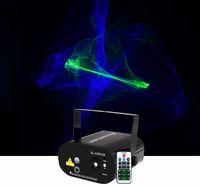 Sharelife البسيطة أخضر أزرق منوم أورورا DJ ضوء الليزر مزيج الأزرق LED التحكم عن بعد الرئيسية الحفلة حزب مشاهدة المرحلة إضاءة SL200GB