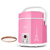 1.2L mini-cuiseur à riz petit 2 couches à vapeur multifonction Marmite Cuisinière de chauffage Isolation électrique 1-2 personnes