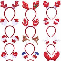 Bandeau de Noël pour les enfants adultes de Noël de cerfs communs oreilles Fête de Noël Offres spéciales Père Noël Noël cheveux bande Fermoir Couvre-chef Noël cadeau JK1910