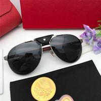 2020 Tendências * Marca clássico Famoso Moda designer de mulheres de luxo óculos de sol retros do metal de madeira Top Quality quadrado Homens óculos senhoras sol