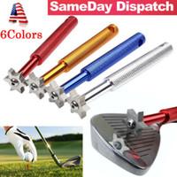 6 Blade-Golf-Eisen-Keil-Club Gesicht Groove Tool Sharpener-Reinigungsmittel für V U Squeegees