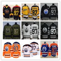 2019 Tüm Yıldız Edmonton Oilers Connor McDavid Jersey 97 Üniversite Su Samuru Premier OHL COA Buz Hokeyi Üniformaları Turuncu 100th Yıldönümü Siyah