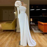 2020 Dubai musulmano lungo della sirena degli abiti di sera una spalla formale robe de soiree elastico arabo Prom Dresses Women Vestidos personalizzato