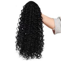 Деформация хвостик Наращивание волос 12 дюймов Kinky завитые кулиской хвостик 150г / пакет афро-американских Wrap Синтетический зажим В