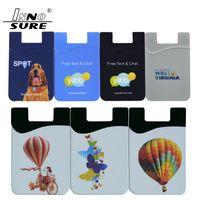 Silikon Cüzdan Kredi Kartı Cep Çanta özelleştirme Logo IC Kimlik Kart Sahibi Yuvası Telefon Arka Kapak Kılıf Kılıfı ile Yapıştırıcı Sticker