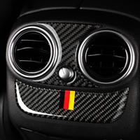 Fibre de carbone arrière de voiture Climatisation Panneau sortie Cadre couverture de finition pour Mercedes Classe C W205 C180 C200 GLC Car Styling