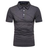 Ffxzsj рубашки 2020 brand Fashion с короткими рукавами мужской летний хлопок дышащий топ T европейский размер S-2XL