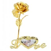 Rose Foil Rose LOVE Base Exquisite Attractive Home Decoratio...