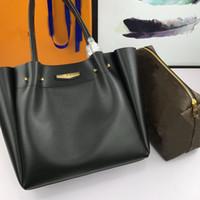 حقائب اليد وحقائب اليد حقيبة أزياء المرأة الساخن بيع عالية الجودة جلد البقر جلد قدرة كبيرة أكياس التسوق إلكتروني كامل شحن مجاني