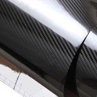 5j enveloppe en fibre de carbone film film à bulles d'air libre autocollant pour voiture Motorcyle Téléphone autocollant étanche Couleur Noir 152 X 30CM