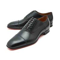 Bottom Red Shoes Gentleman Party Dress Affari Red Sole Greggo Cap Toe Men's Flat Oxford Homme Mocassini Scarpe Walking 38-47