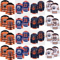 에드먼턴 오일러 하키 유니폼 Connor McDavid Jersey Mikko Koskinen Leon Draisaitl Wayne Gretzky Ryan Nugent-Hopkins 밀라노 Lucic 스티치